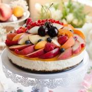 cheesecake sans cuisson aux fruits d'été maison