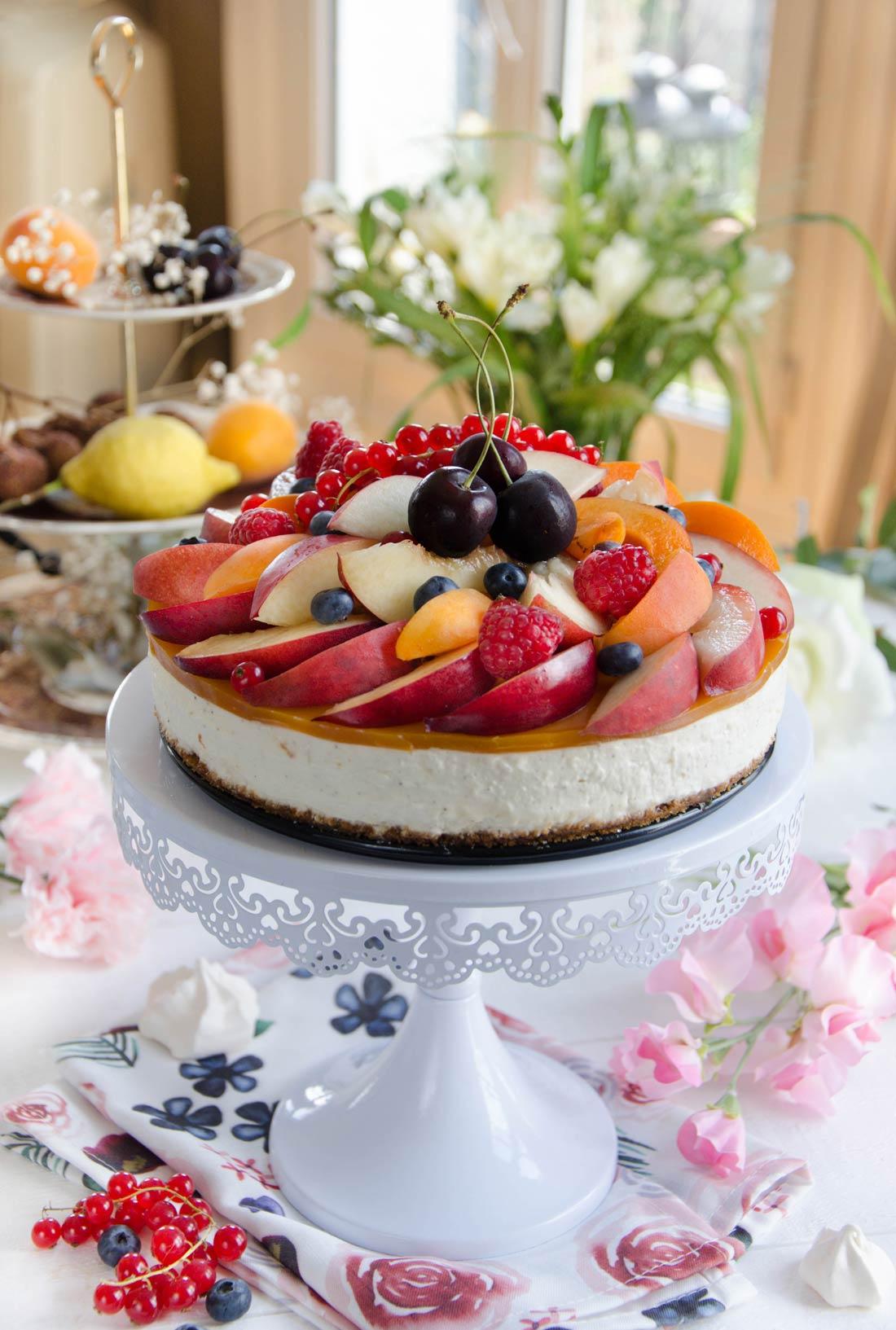 Recette de cheesecake sans cuisson aux fruits d'été maison