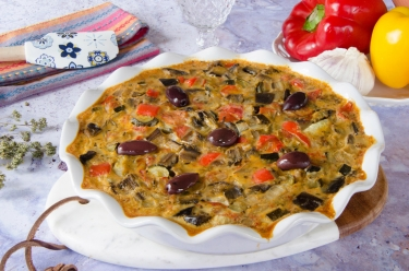 Recette de clafoutis légumes été ratatouille-fait-maison