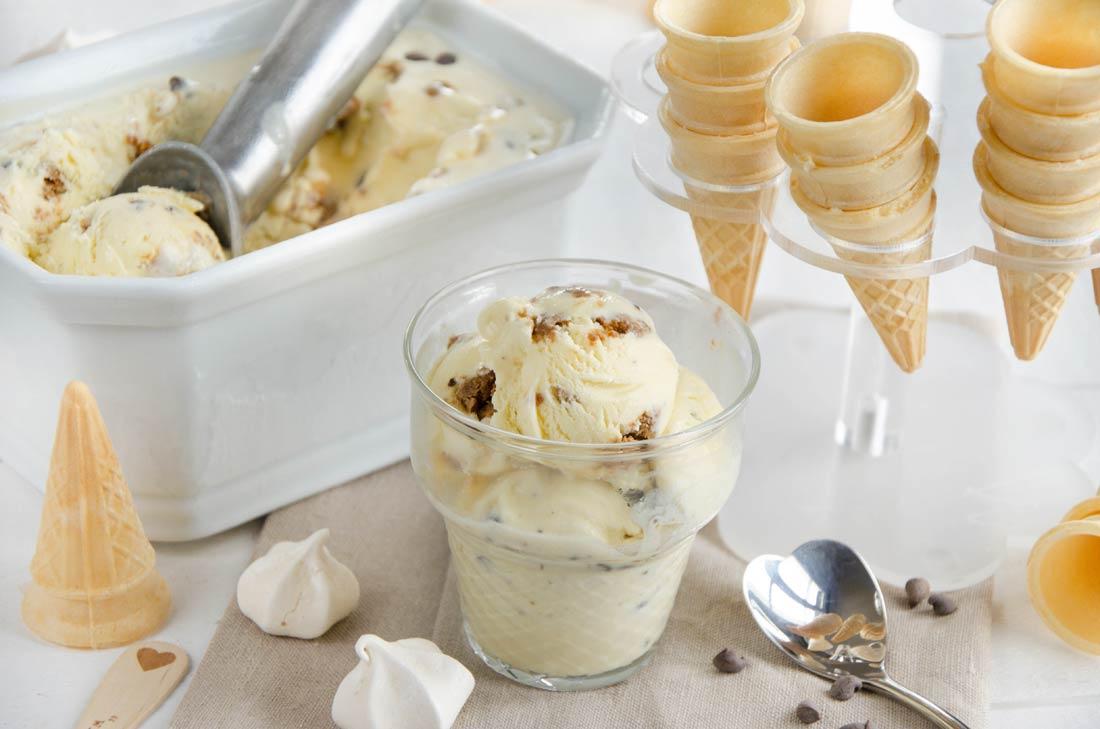 Crème glacée tiramisu fait maison
