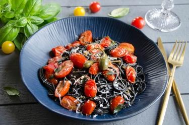 pâtes à l'italienne tomates cerises ail anchois
