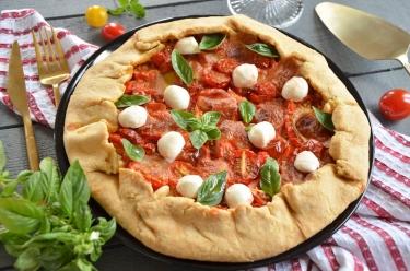 Tarte rustique tomates cerises mozzarella