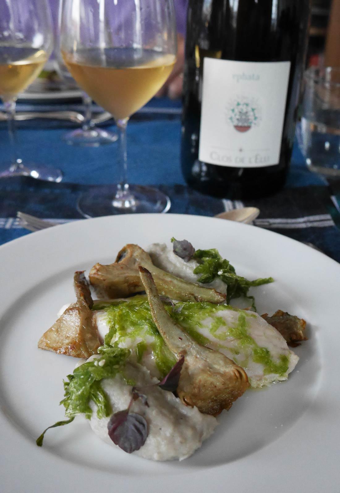 Bar aux algues et artichauts La Belle Assiette
