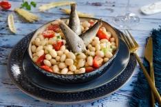 Salade de cocos de Paimpol et sardines