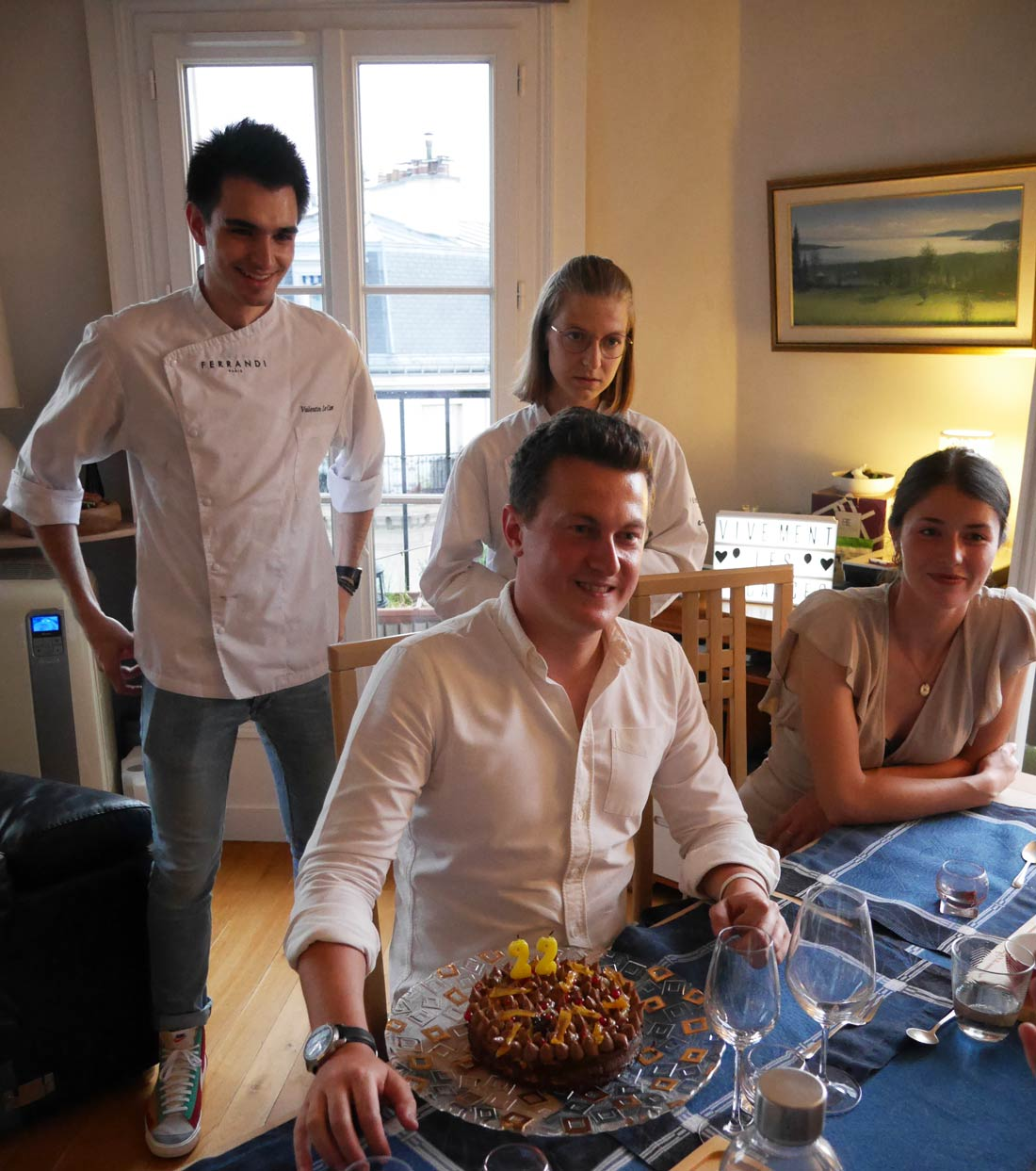 Gâteau d'anniversaire chocolat orange La Belle Assiette