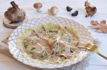 raviolis ricotta champignons ail noir maison