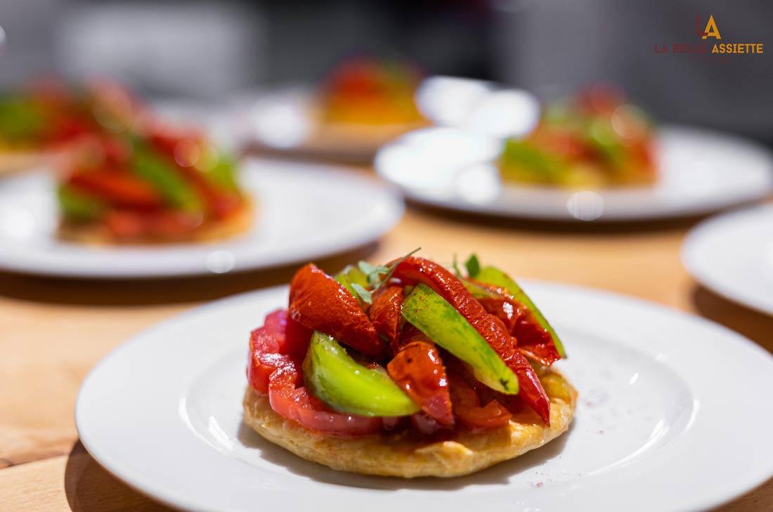 Tarte fine tomates colorées La Belle Assiette