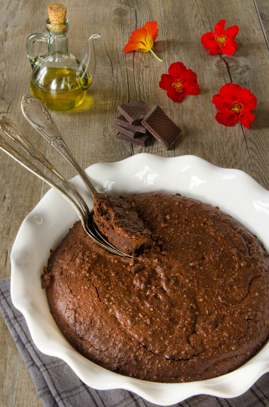 Fondant chocolat amandes huile d'olives