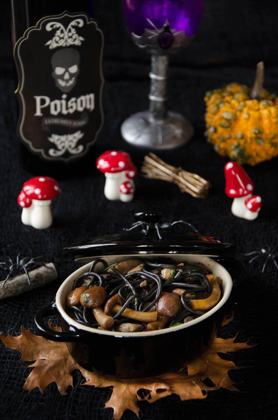 Linguine champignons ail persil