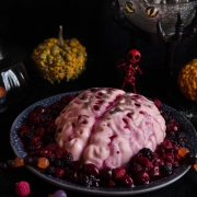Panna cotta fruits rouges pour Halloween