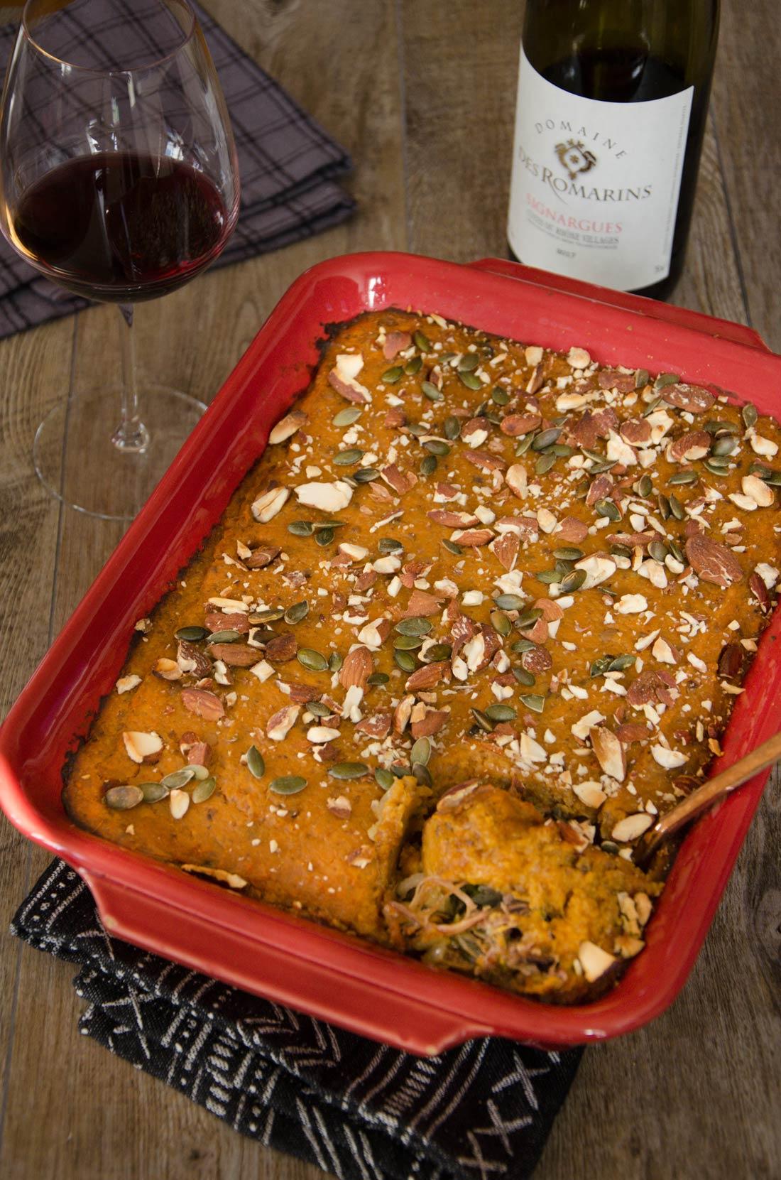 Parmentier canard patates douces cèpes