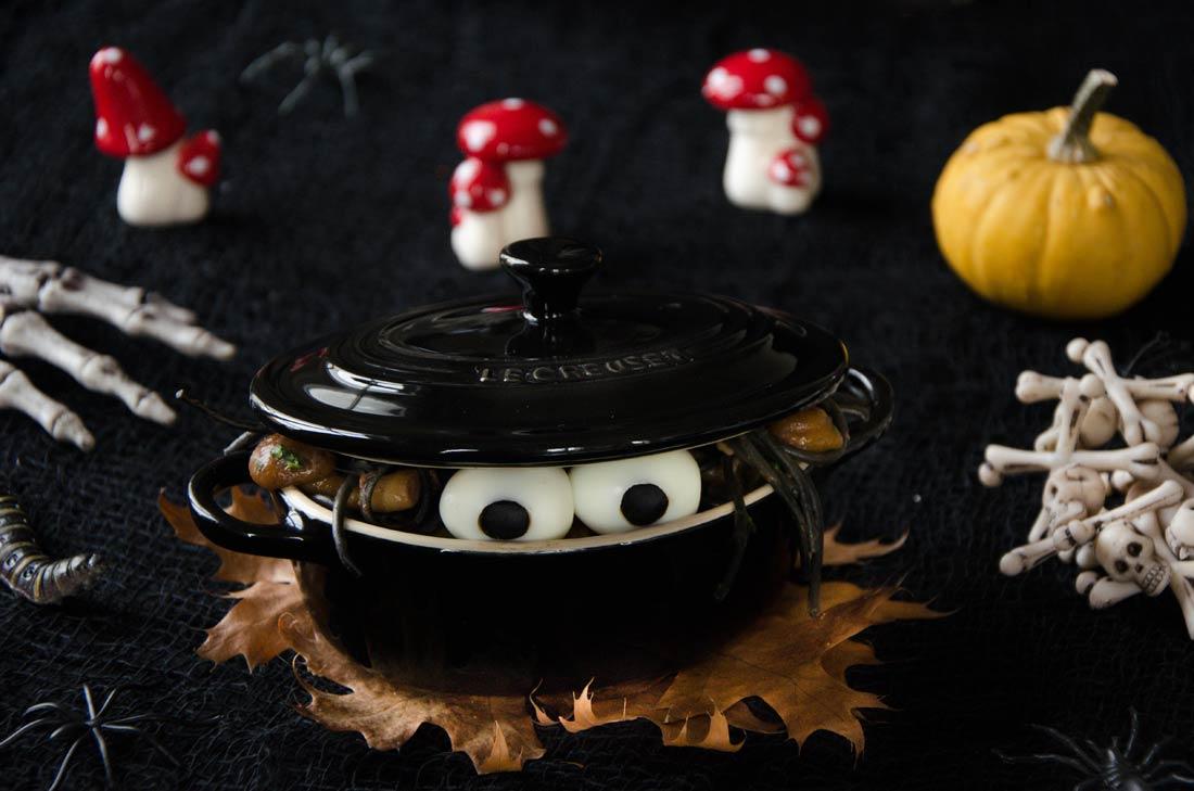 Pâtes champignons ail persil
