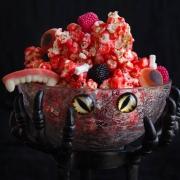 Pop corn caramel rouge sanglant pour Halloween
