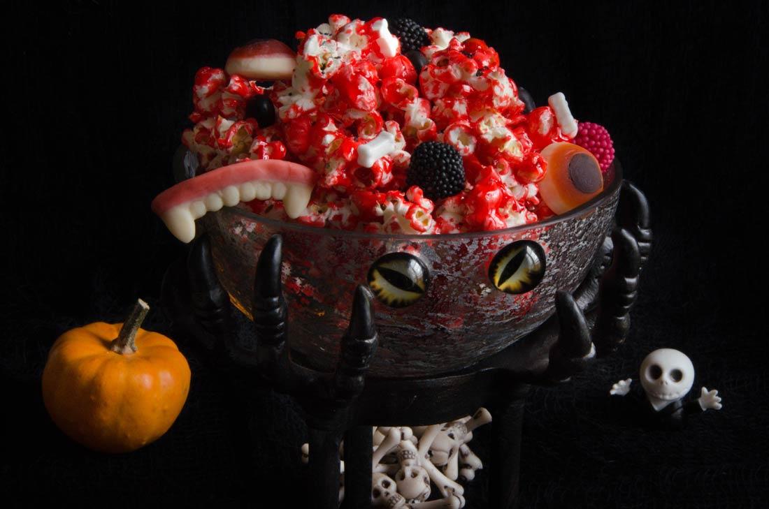 Pop corn sanglant Halloween