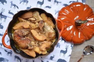 Poulet aux coings et au cidre