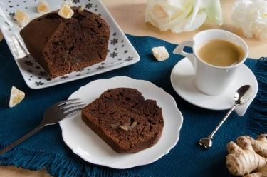 Cake chocolat gingembre pour un goûter fait maison