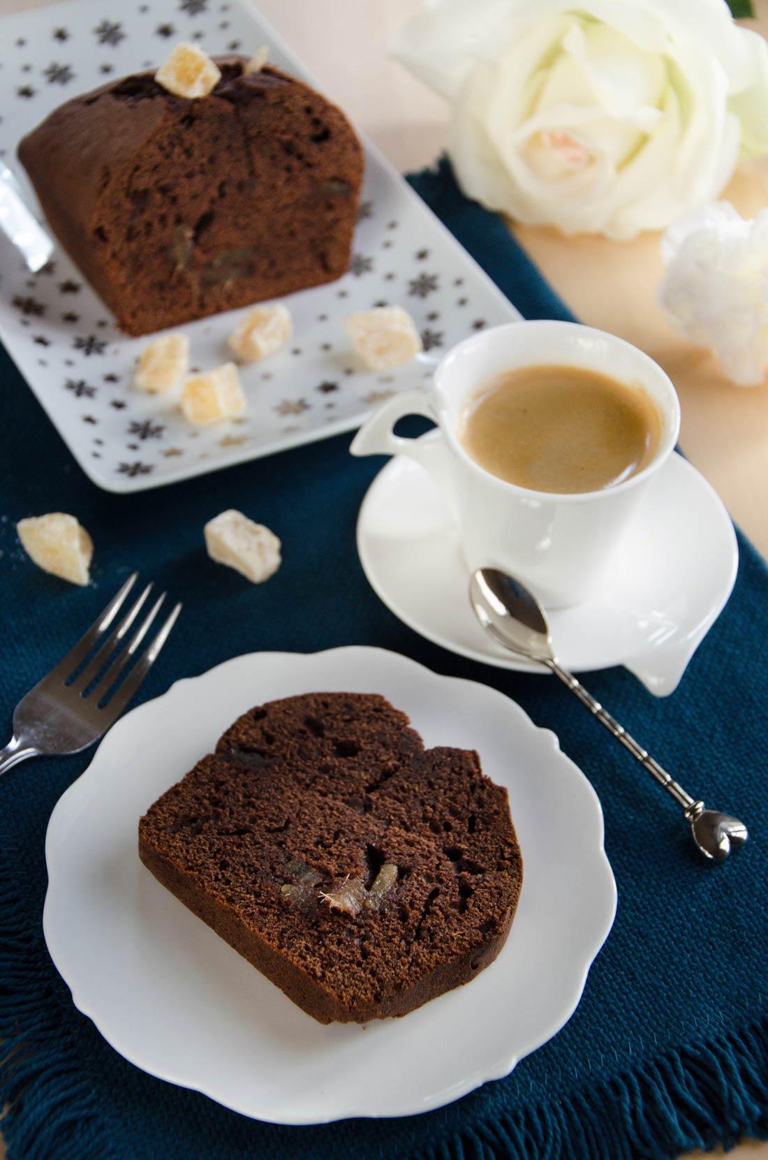 Cake chocolat gingembre fait maison