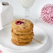 Cookies chocolat blanc framboises maison