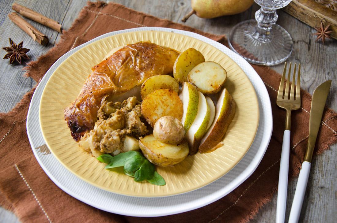 Recette de intade aux poires et pain d'épices