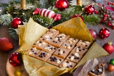 Recette de Carrés chocolat dulce noix cajou