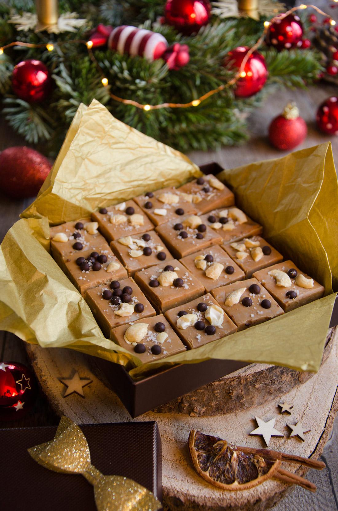 Carrés chocolat dulce noix cajou