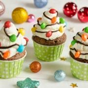 cupcakes guirlandes de Noël
