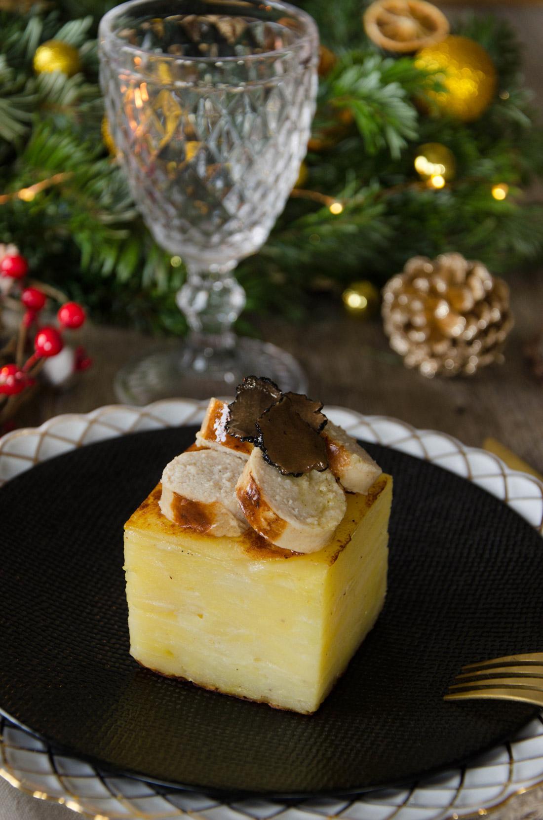 Recette de pommes de terre boudin blanc truffes