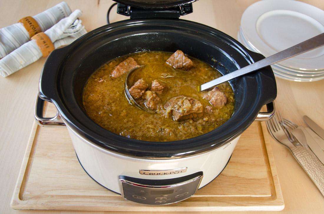 Recette de noix de veau à l'orange mijotée au crockpot après cuisson
