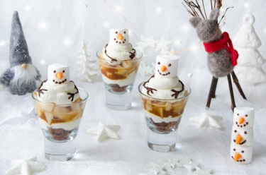 Verinnes poires caramel bonhommes de neige