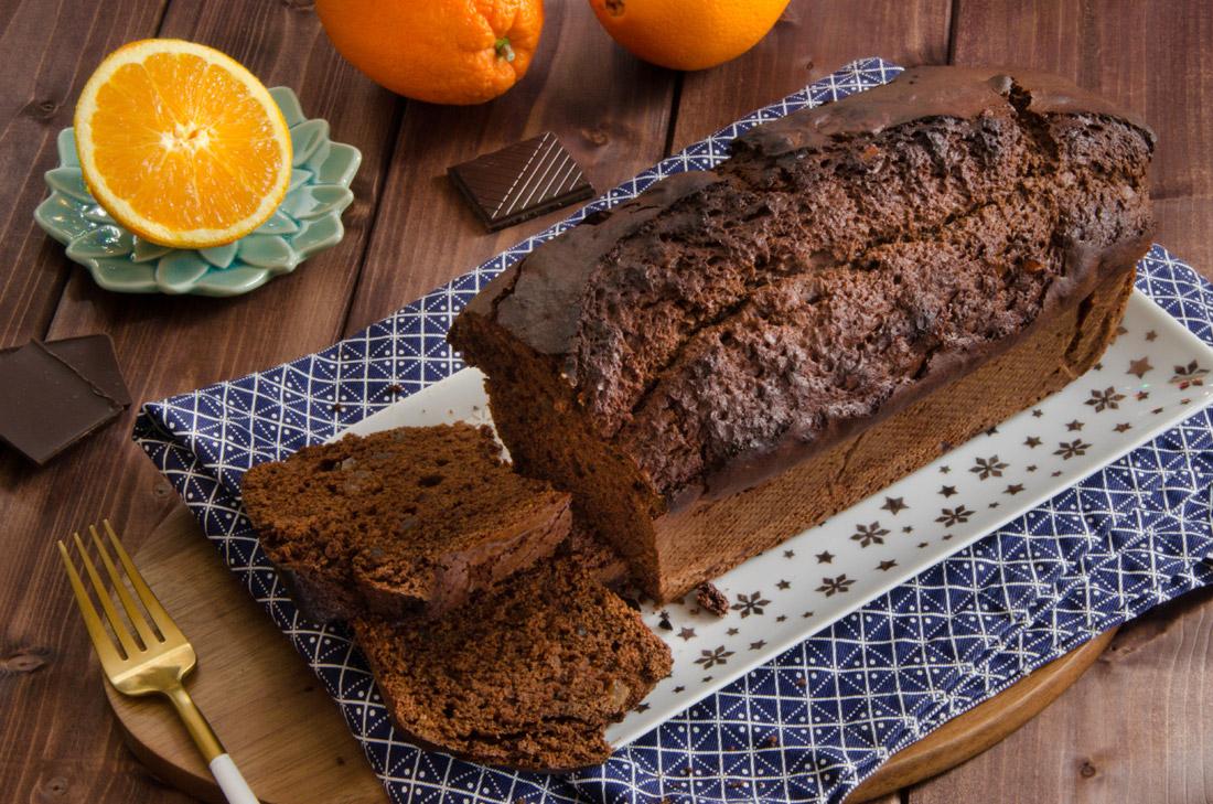 Recette de cake chocolat orange confite fait maison
