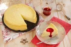 Gâteau carré frais à la vanille