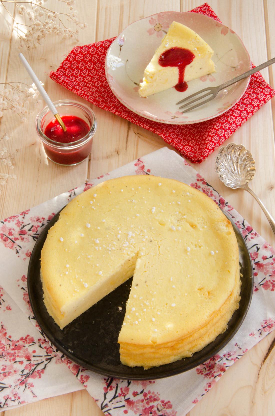 Gâteau carré frais à la vanille ultra moelleux et délicieux, fait maison
