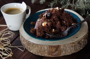 Brownie chocolat cranberries noisettes