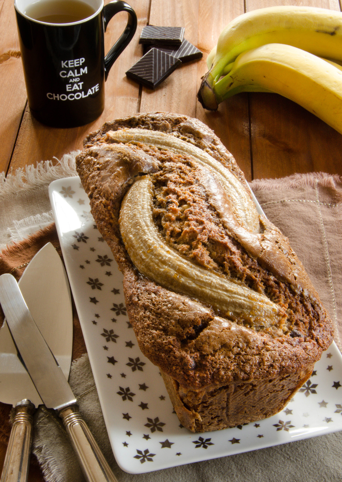 Cake banane sarrasin chocolat