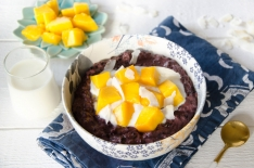 Porridge riz noir et mangue