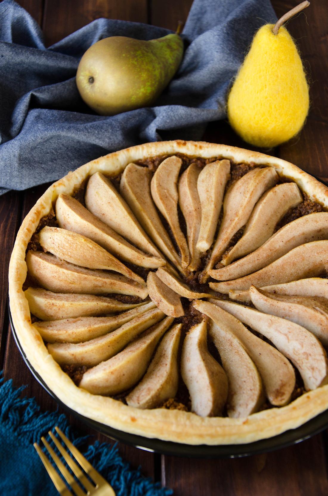 Recette de tarte spéculoos poire