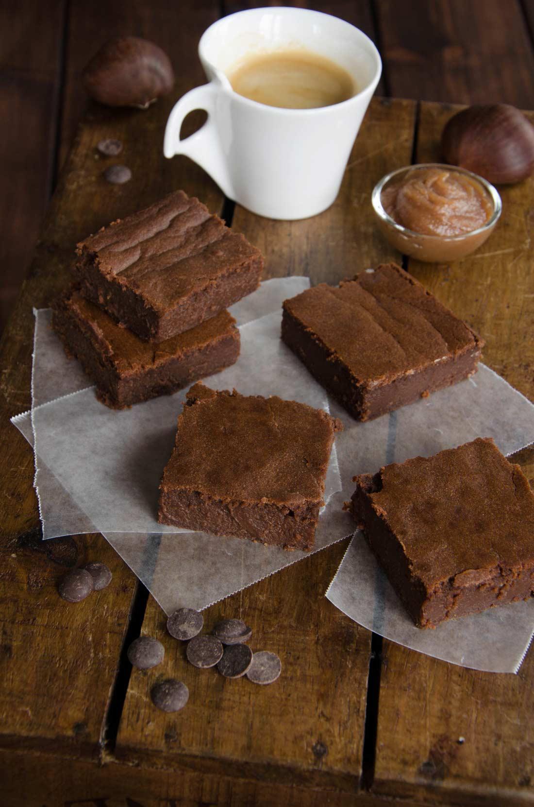 Recette maison de brownie au chocolat et à la crème de marrons