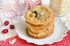 Recette de cookies chocolat blanc cranberries