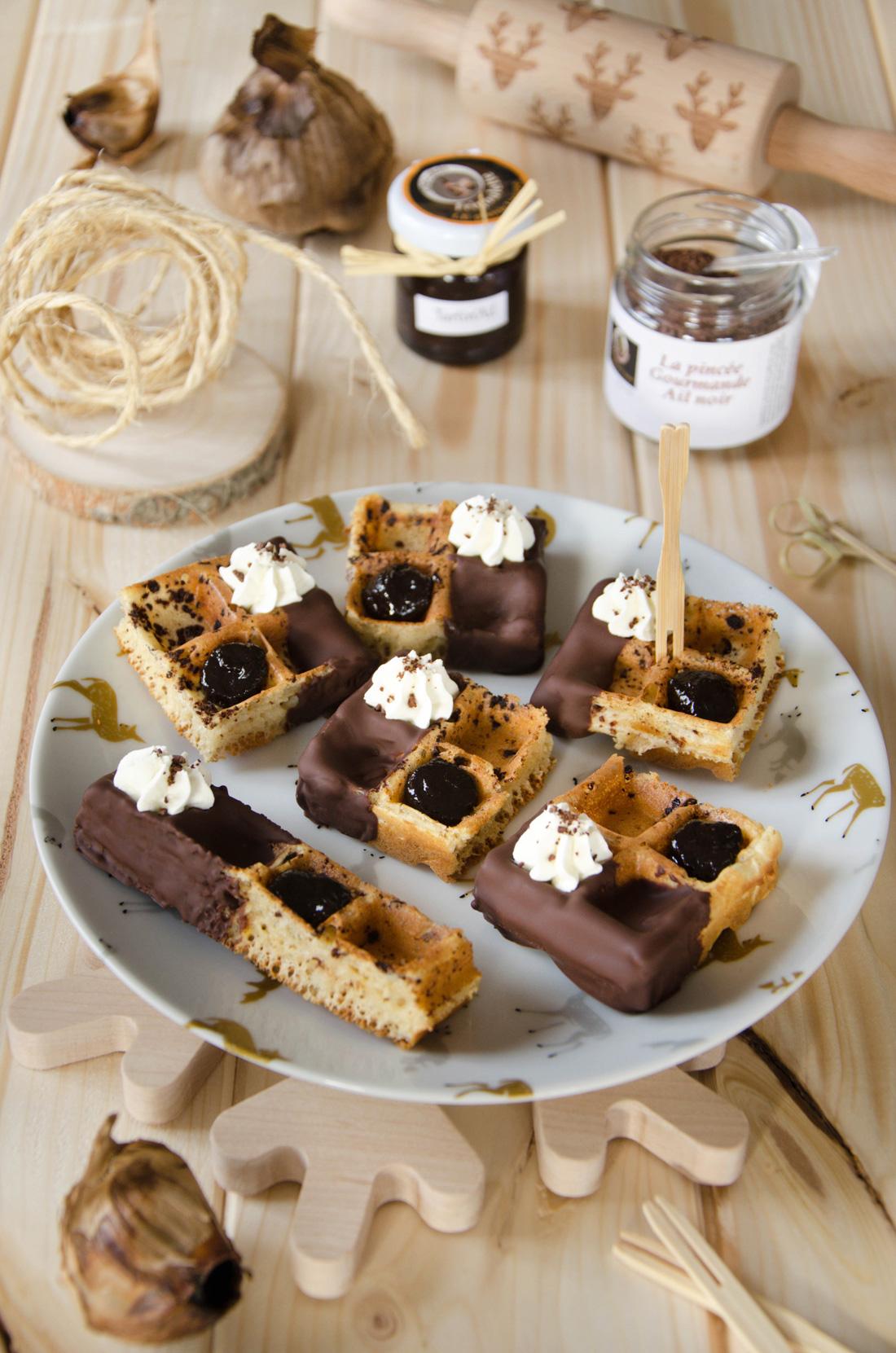 Recette de gaufre chocolat ail noir
