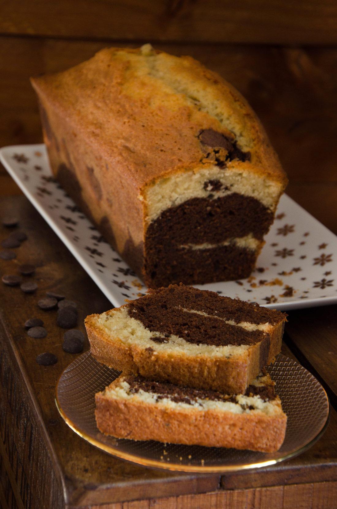 Recette de marbré chocolat vanille fait maison