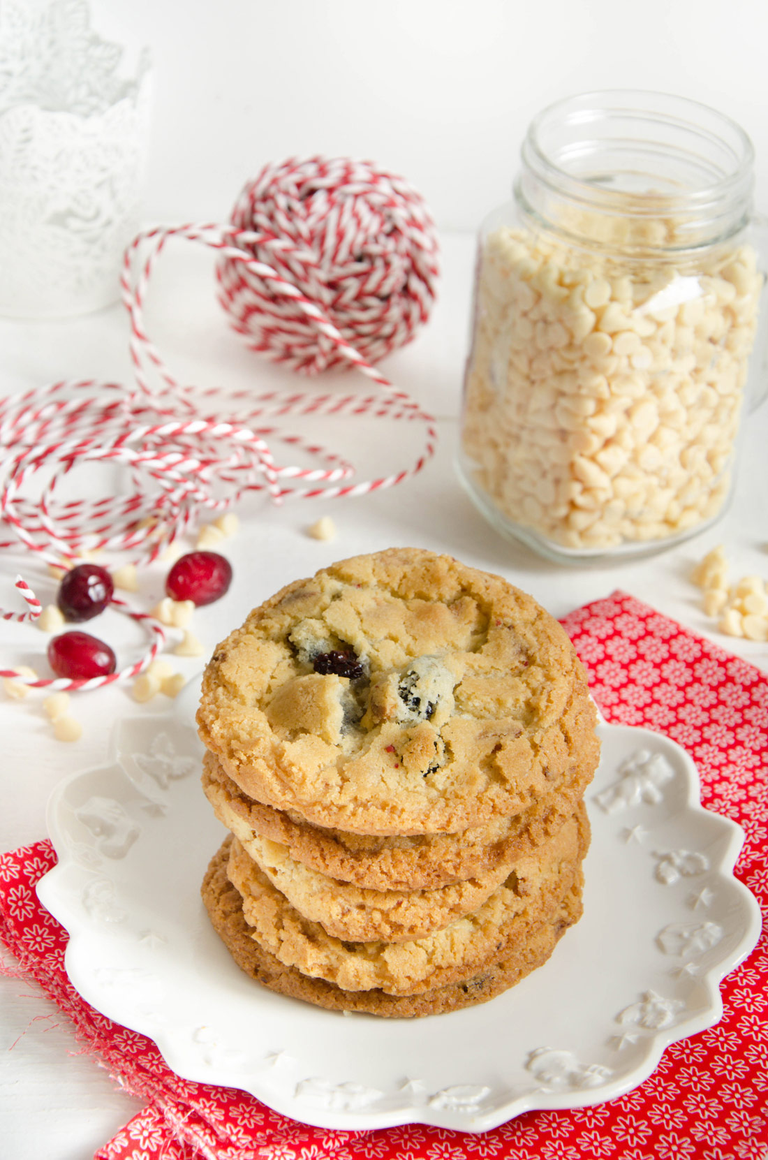 Cookies chocolat blanc cranberries fait maison