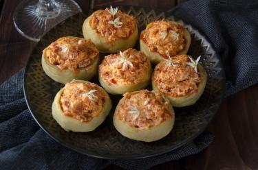 Recette facile pour l'apéro : artichauts chèvre chorizo