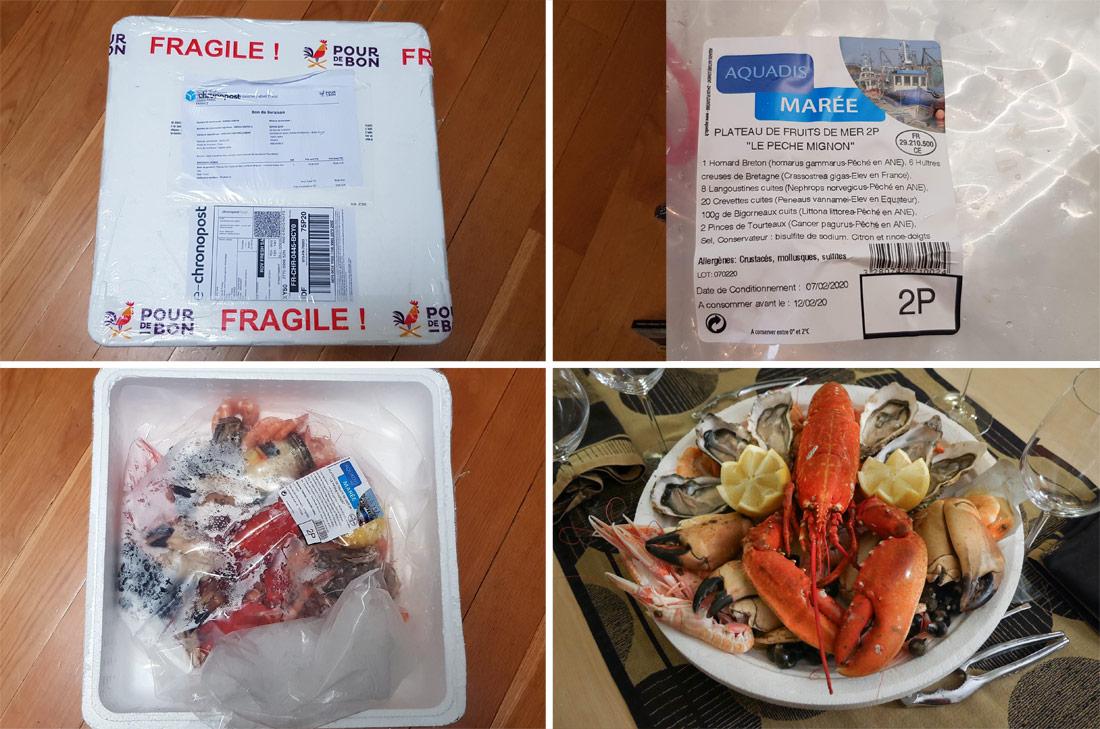 Plateau repas de fruits de mer