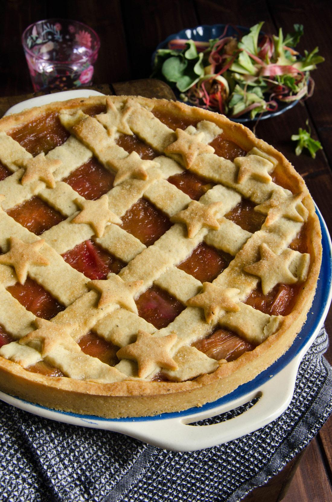 Recette de tarte à la rhubarbe fait maison
