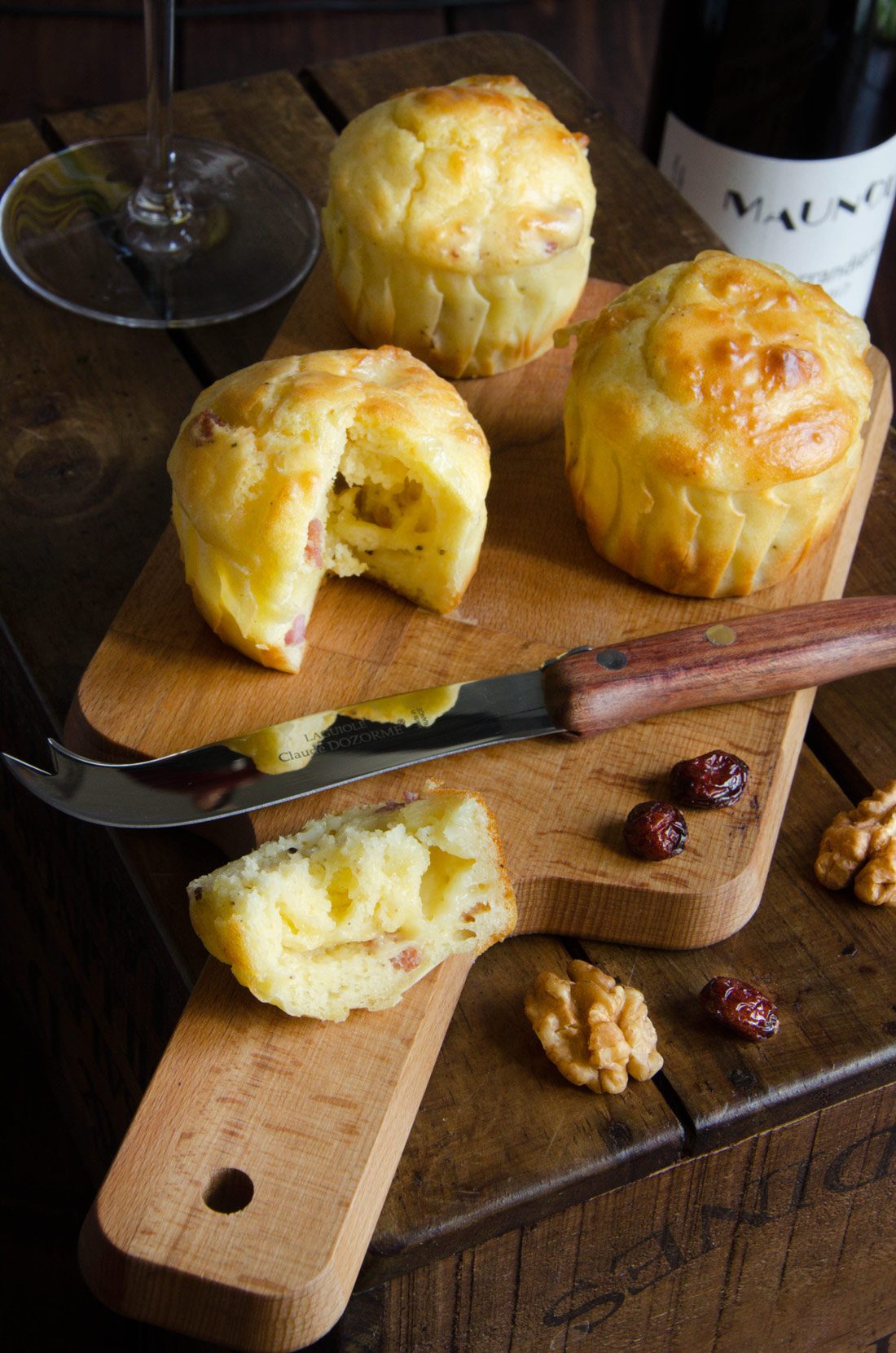 Muffins reblochon lardons