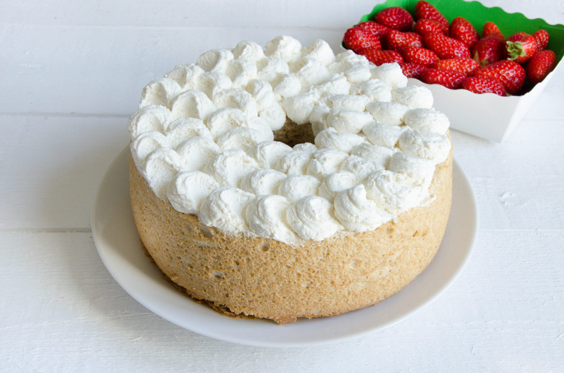 Préparation gâteau à l'érable et aux fraises