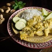 Brochettes de poulet sauce satay fait maison