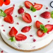 Recette maison de cheesecake à la fraise sans cuisson