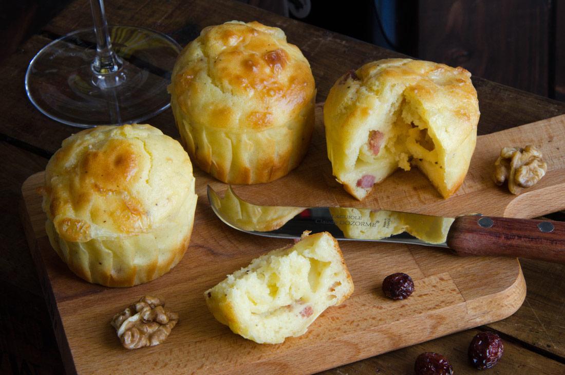 Recette de muffins reblochon lardons