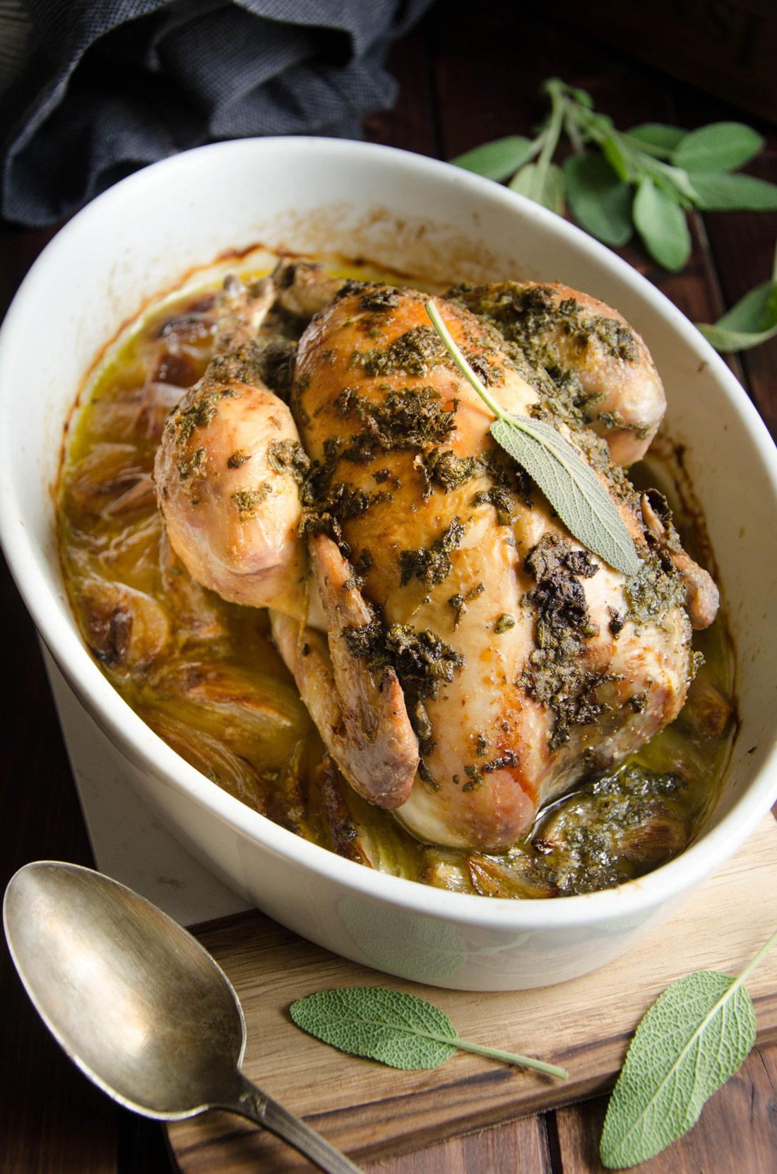 Recette maison de poulet à la sauge